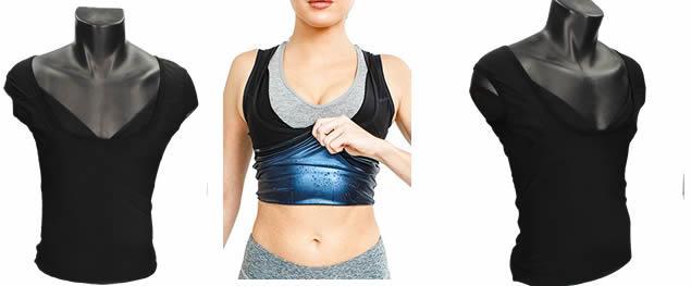 Dámské zeštíhlující tílko podporující pocení Sweat & Shaper L/XL