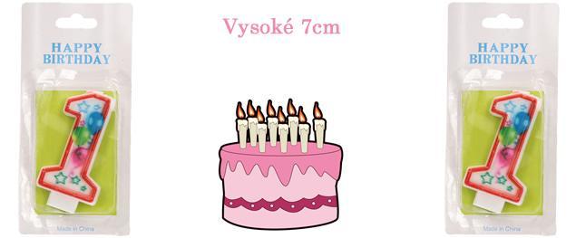 Svíčka na dort- číslo 1