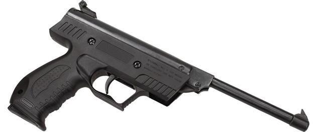 Vzduchová pistole jednoruční černá (ráže 5,5mm)