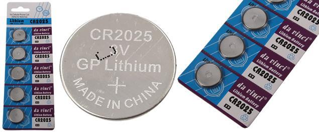 Knoflíková baterie v platu