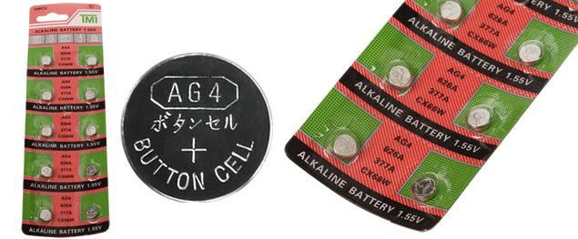 Knoflíková baterie AG4 626A 377A CX66W 1,55V