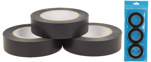 Izolační samolepící páska černá sada 3 ks