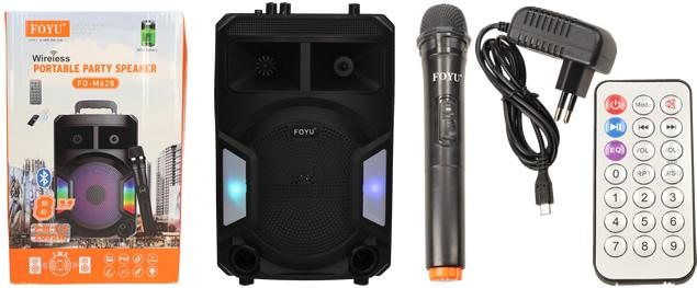 Bezdrátový párty reproduktor s mikrofonem FO-M628