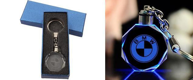 Klíčenka skleněná LED - BMW
