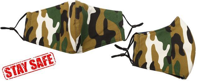 Rouška maskáčová zelená