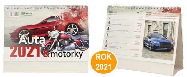 Kalendář 2021 Auta a motorky 22 x 17 cm