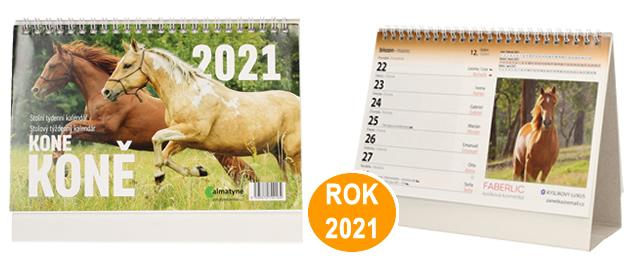 Kalendář 2021 Koně 22 x 17 cm