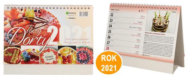 Kalendář 2021 Dorty 22 x 17 cm