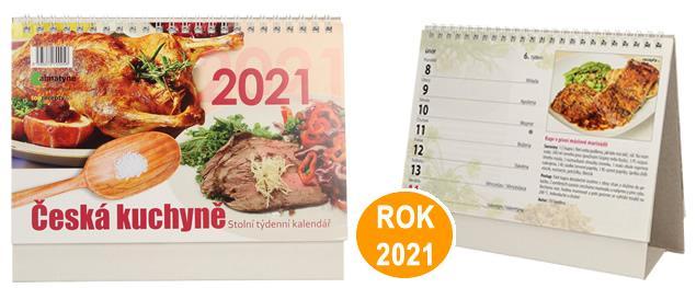 Kalendář 2021 Česká kuchyně 22 x 17 cm