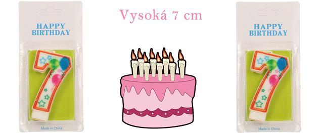 Svíčka na dort- číslo 7