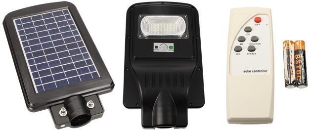 LED solární venkovní světlo 30W na dálkové ovládání