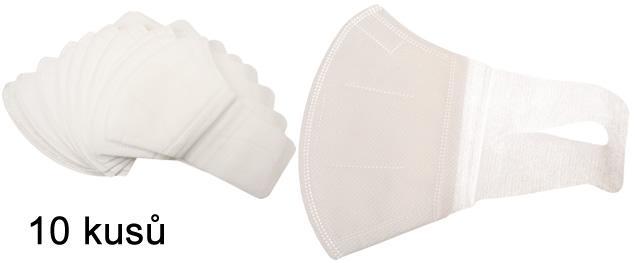 Respirační rouška 10 ks bílá