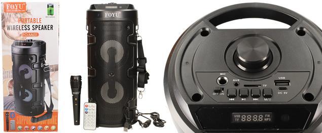 Bezdrátový párty reproduktor s mikrofonem FO-M631