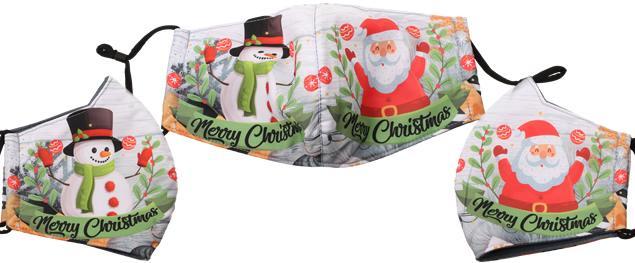 Rouška vánoční Santa a sněhulák