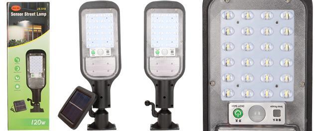 LED solární venkovní světlo 120W JX-518