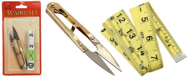 Sada odstřihovací nůžky a metr