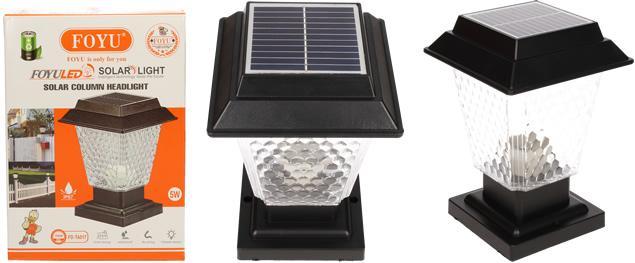 LED solární dekorativní lampa FO-TA017 5W
