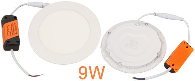 LED stropní panel zápustný 9W kulatý