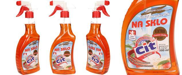 CIT čistící prostředek na sklo 500 ml Pomeranč & Mango