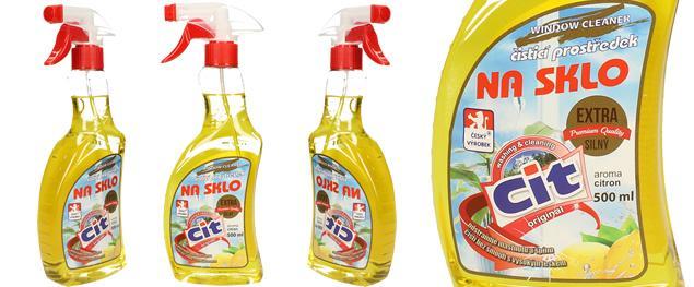 CIT čistící prostředek na sklo 500 ml Citron