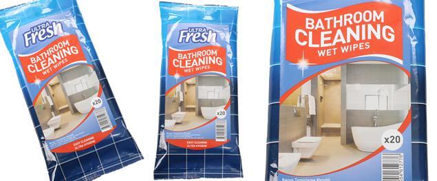 Ultra Fresh vlhčené čistící ubrousky do koupelny