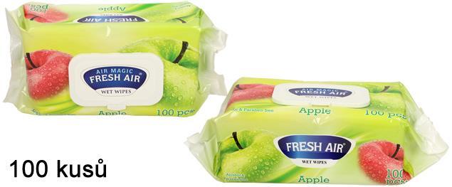 Fresh Air vlhčené ubrousky 100ks Apple