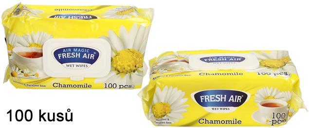 Fresh Air vlhčené ubrousky 100ks Chamomile