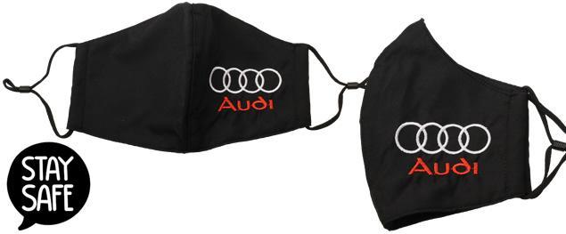 Rouška AUDI vyšívaná