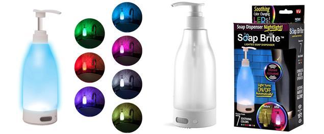 Svítící LED dávkovač mýdla Soap Brite