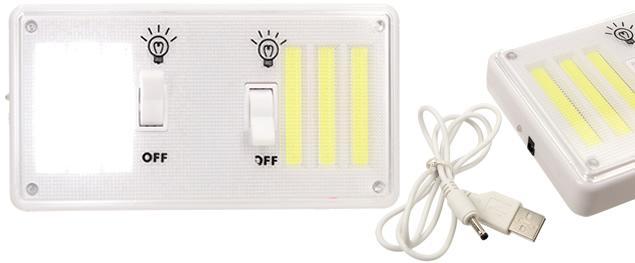 Bezdrátové super světlo s vypínači, nabíjecí 9W