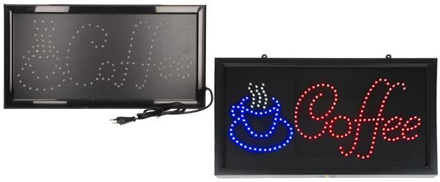 Barevná světelná LED tabule COFFEE