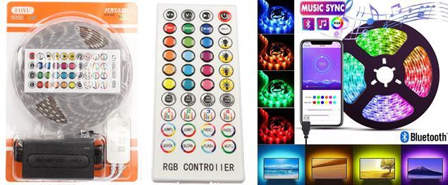 LED pásek RGB 5 m tančící do hudby FO-Z015