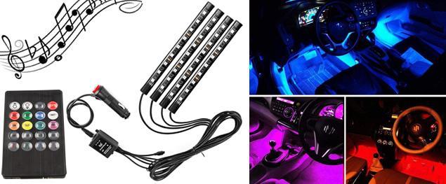 RGB LED pásky do auta Music