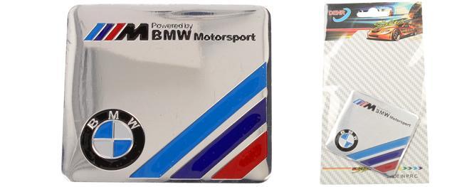 Kovová samolepka BMW Motorsport 5,5 x 6 cm