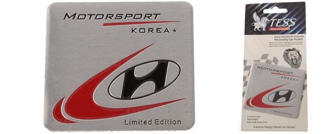 Kovová samolepka Hyundai Korea MOTORSPORT