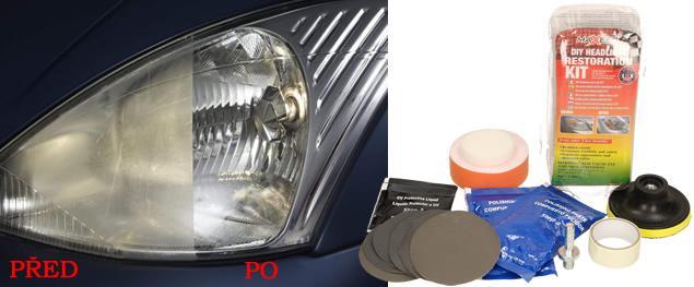 Sada na leštění a ochranu povrchu světlometů