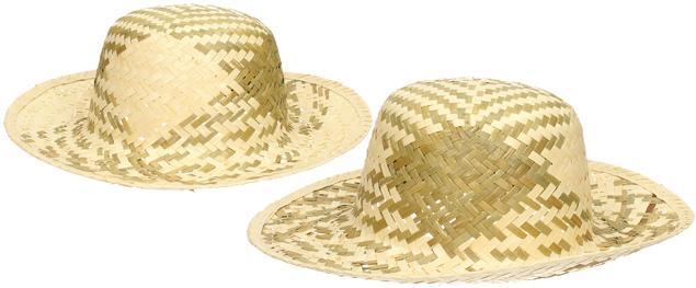 Slaměný klobouk dvoubarevný