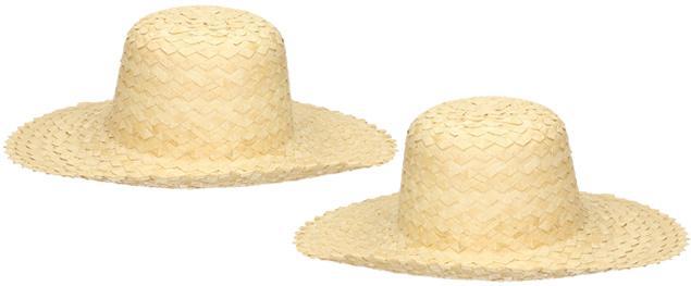 Prošívaný slaměný klobouk