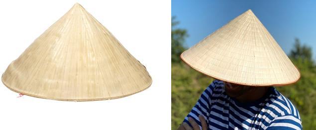 Slaměný klobouk v asijském stylu