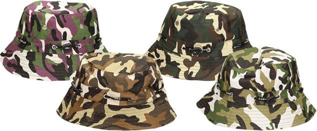 Plátěný klobouk maskáčový