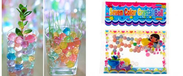Vodní dekorační hydratační kuličky