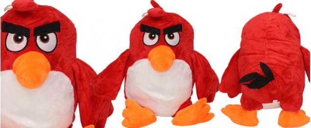 Plyšák pták červený