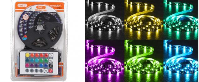 LED pásek RGB 1 m s ovladačem USB