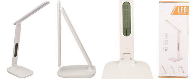 LED dotyková lampička s displejem