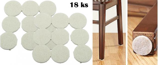 Podložky pod nábytek 18 ks