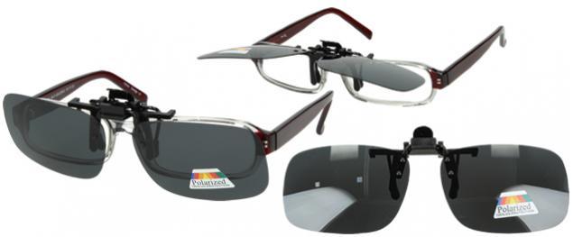 Polarizační sluneční Klip na brýle šedý