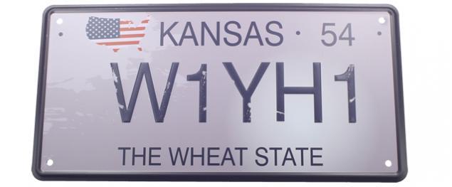 Cedule značka USA 30x15,5 cm THE WHEAT STATE
