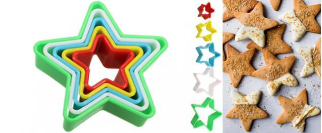 Vykrajovátka 5ks hvězdy