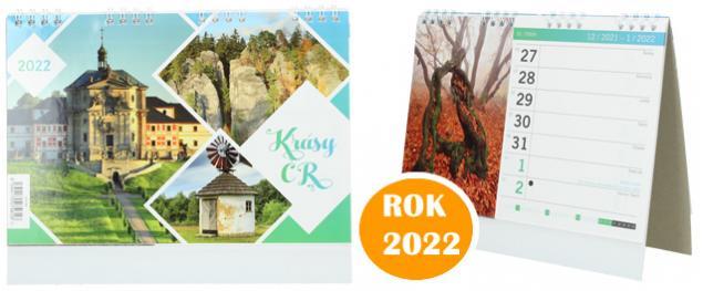 Kalendář 2022 Krásy ČR 22 x 18 cm