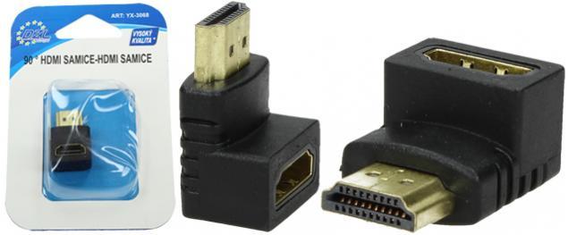 Redukce HDMI-samice / HDMI-samice 90° YX-3068